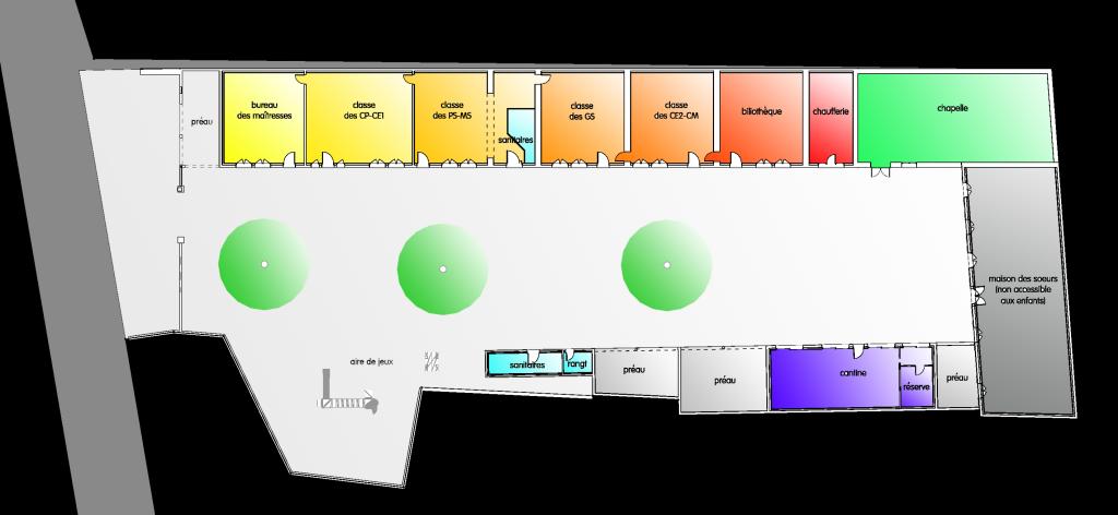 plan d'ensemble des bâtiments